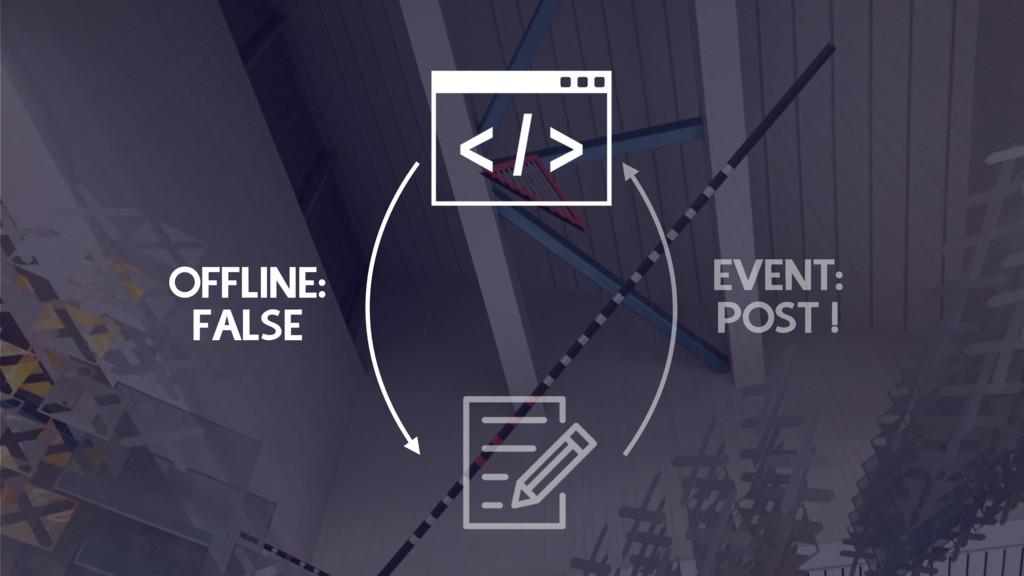 OFFLINE: FALSE EVENT: POST !