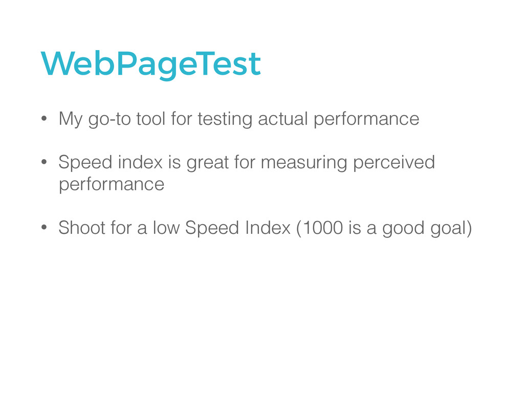 WebPageTest • My go-to tool for testing actual ...