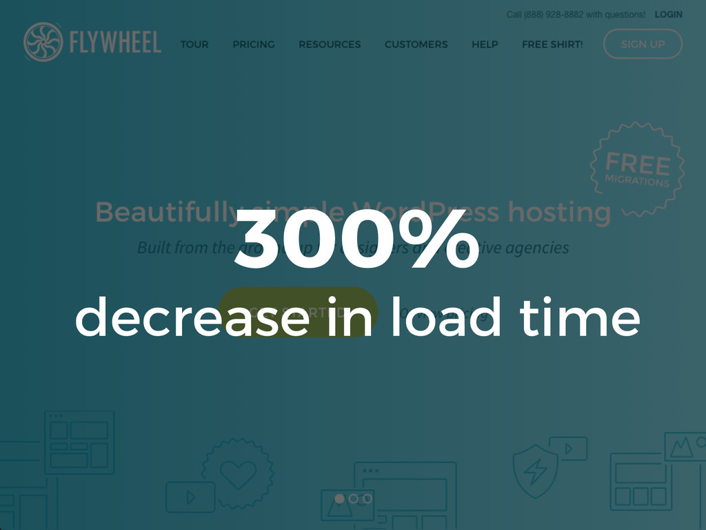 300% decrease in load time