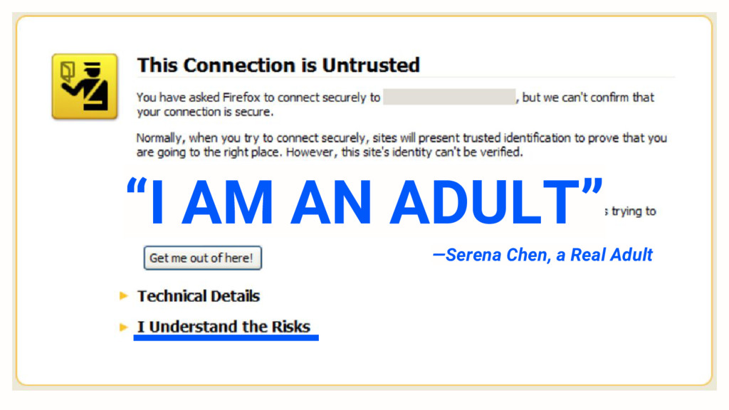 """I AM AN ADULT"" —Serena Chen, a Real Adult"