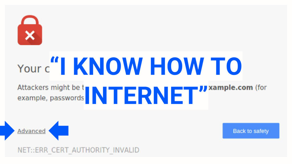 """I KNOW HOW TO INTERNET"""