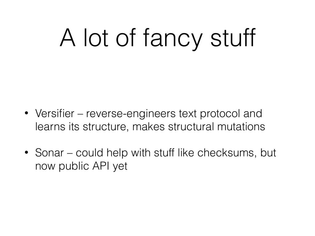A lot of fancy stuff • Versifier – reverse-engin...