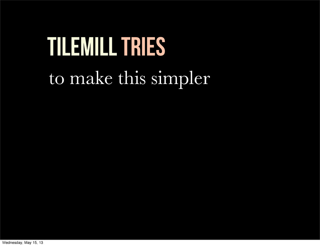 TileMill Tries to make this simpler Wednesday, ...