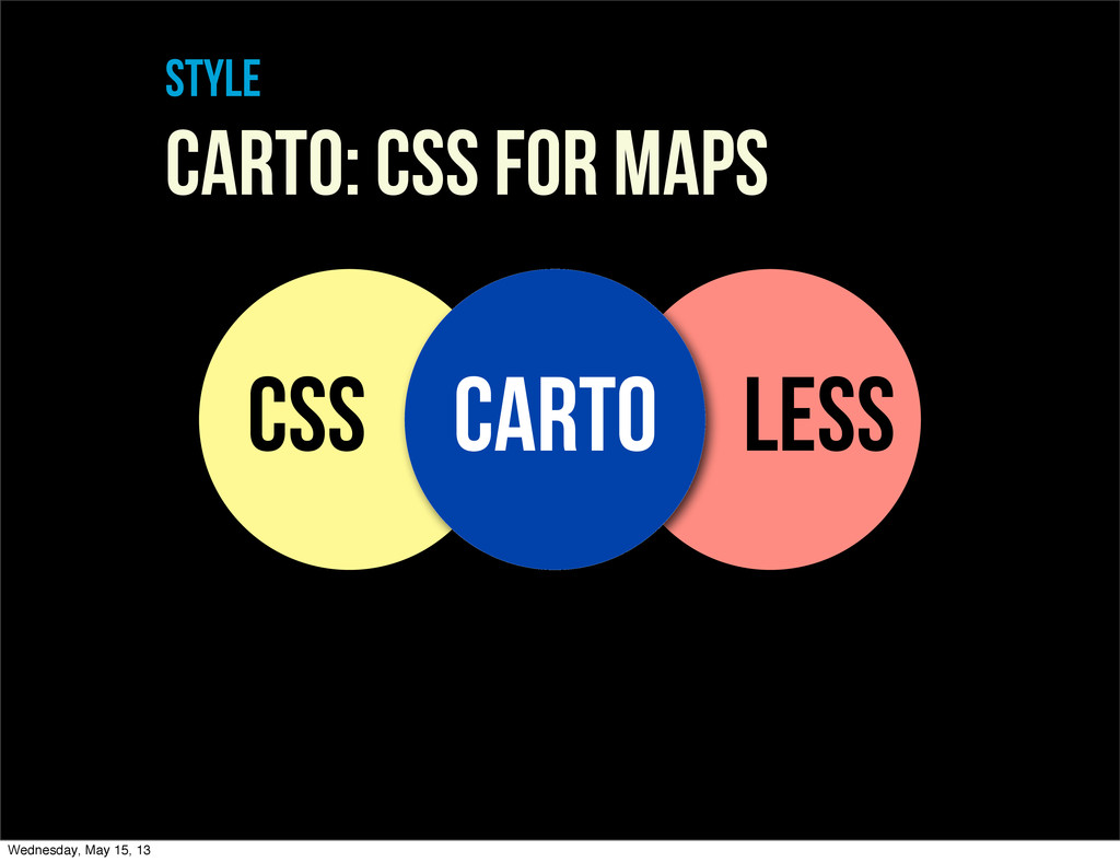 style Carto: CSS For maps CSS LESS CARTO Wednes...