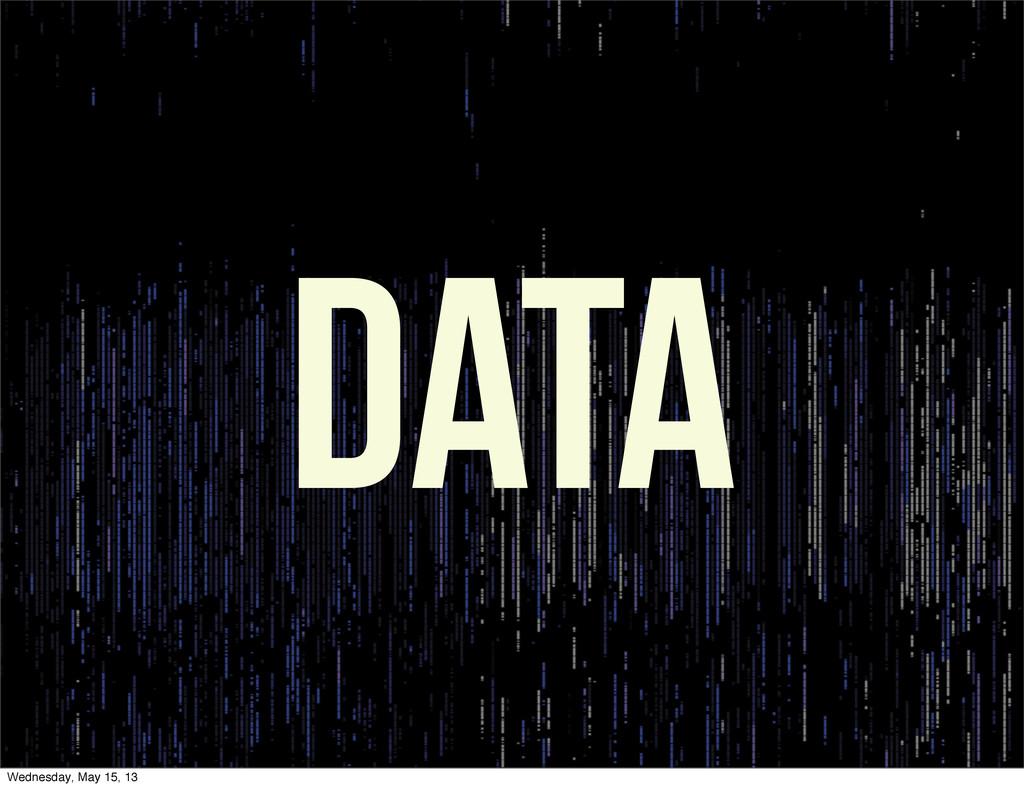 Data Wednesday, May 15, 13