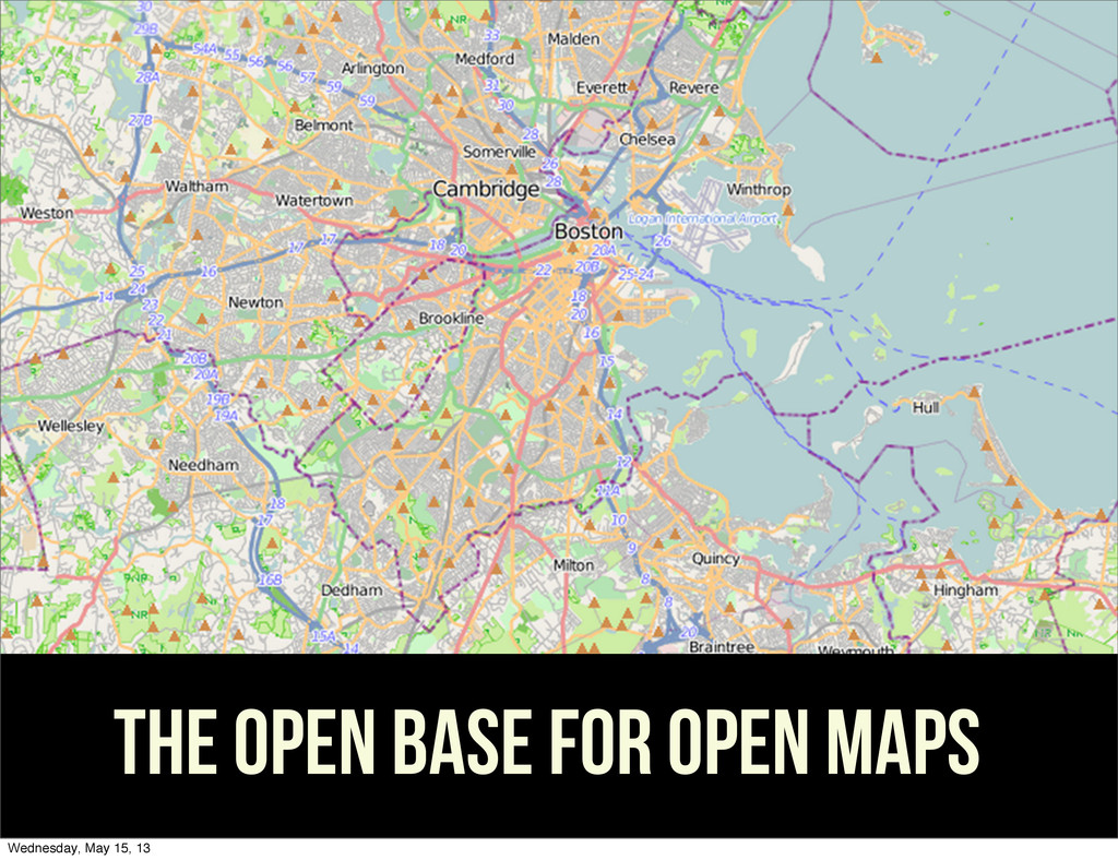the open base for open maps Wednesday, May 15, ...
