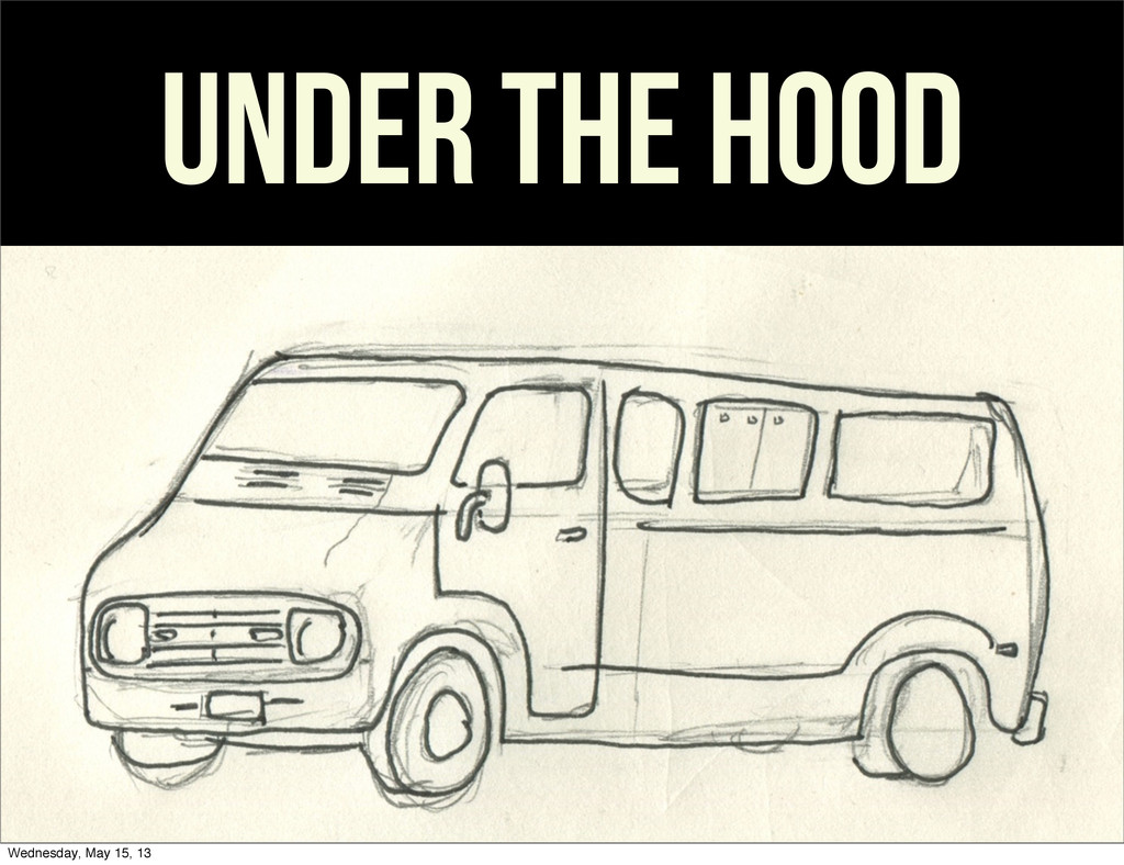 Under the hood Wednesday, May 15, 13