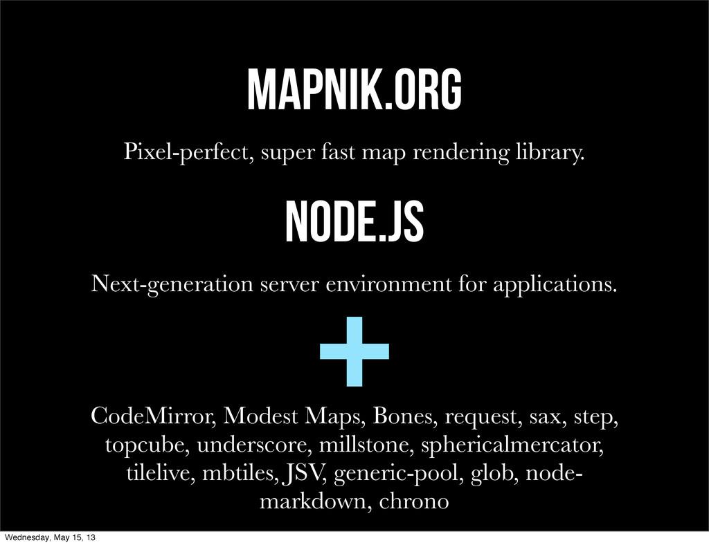Mapnik.org Pixel-perfect, super fast map render...