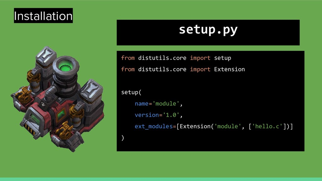 Installation from distutils.core import setup f...