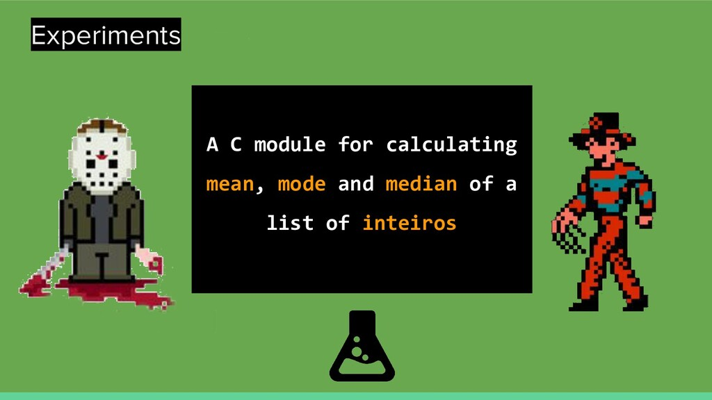 Experiments A C module for calculating mean, mo...
