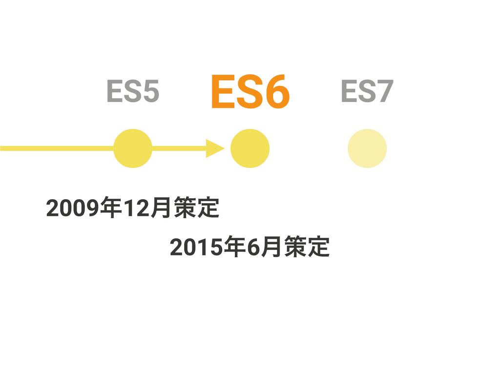 ES5 ES6 ES7 20156݄ࡦఆ 200912݄ࡦఆ