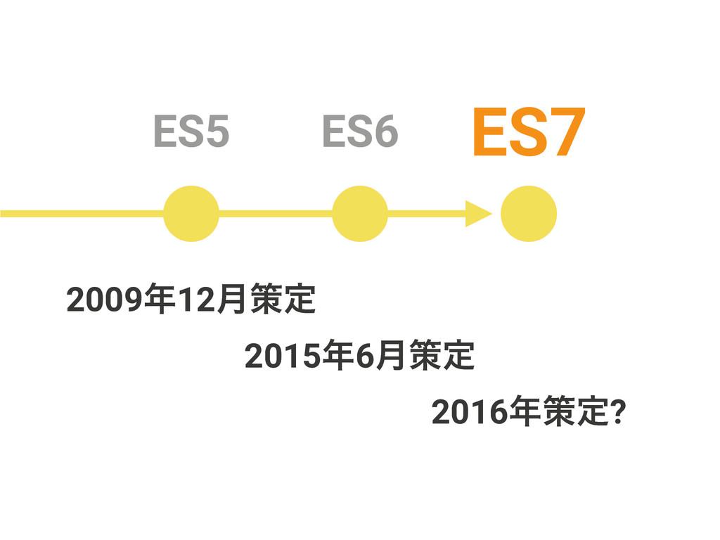 ES5 ES6 ES7 20156݄ࡦఆ 200912݄ࡦఆ 2016ࡦఆ?