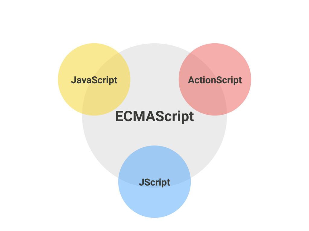 ECMAScript ActionScript JScript JavaScript