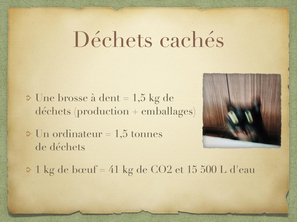 Déchets cachés Une brosse à dent = 1,5 kg de  ...