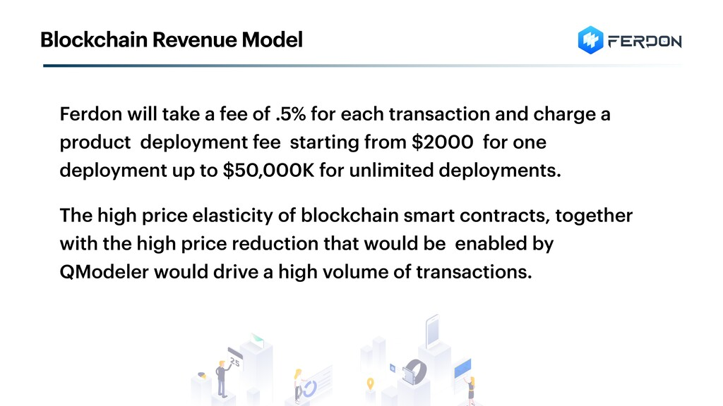 Ferdon will take a fee of .5% for each transact...