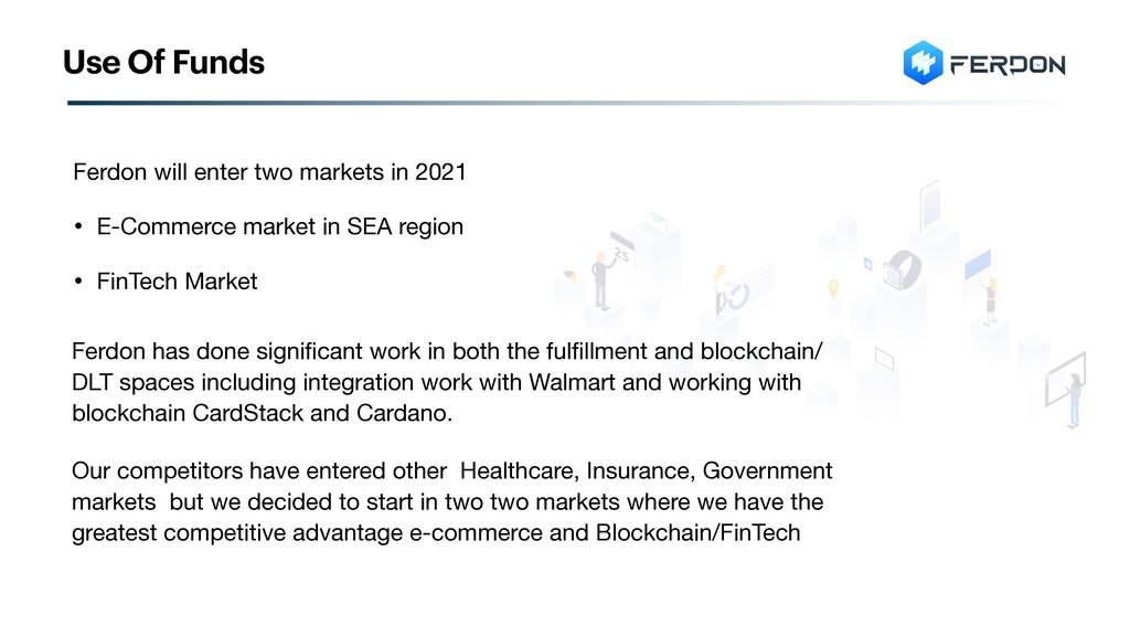 Ferdon will enter two markets in 2021   • E-Com...