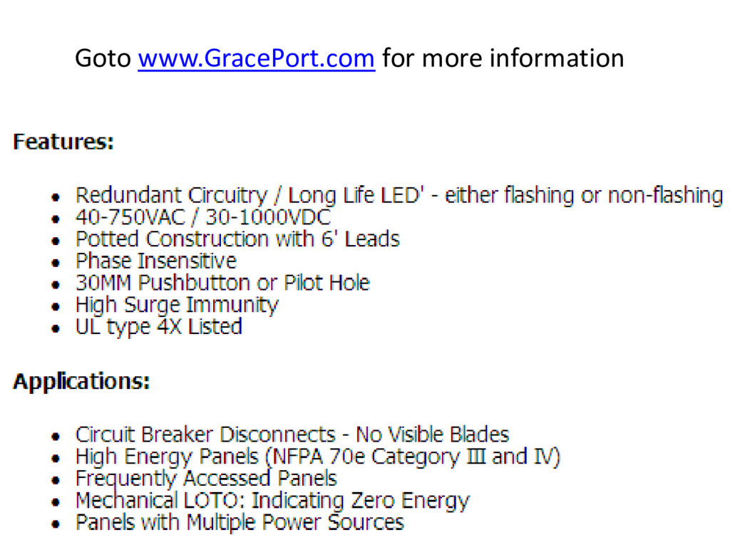 Goto www.GracePort.com for more information