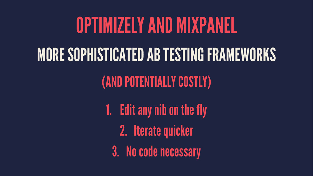 OPTIMIZELY AND MIXPANEL MORE SOPHISTICATED AB T...