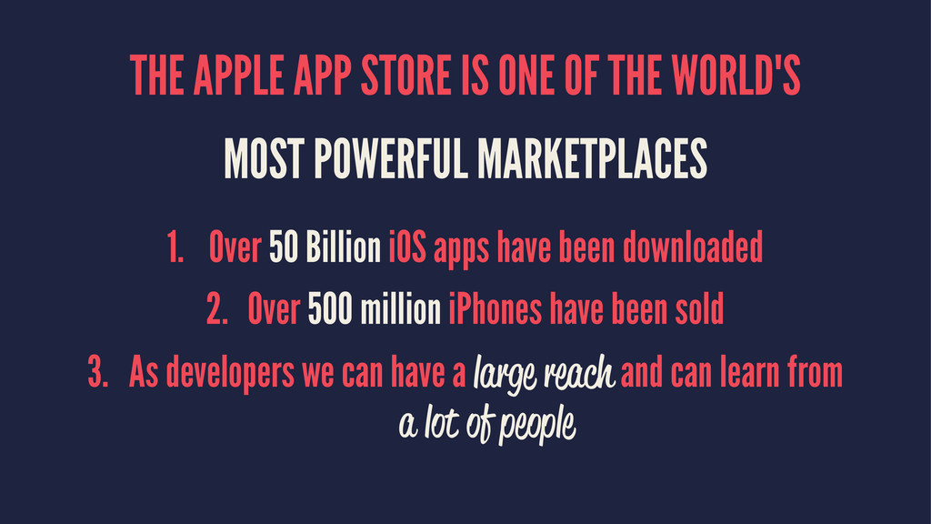 THE APPLE APP STORE IS ONE OF THE WORLD'S MOST ...