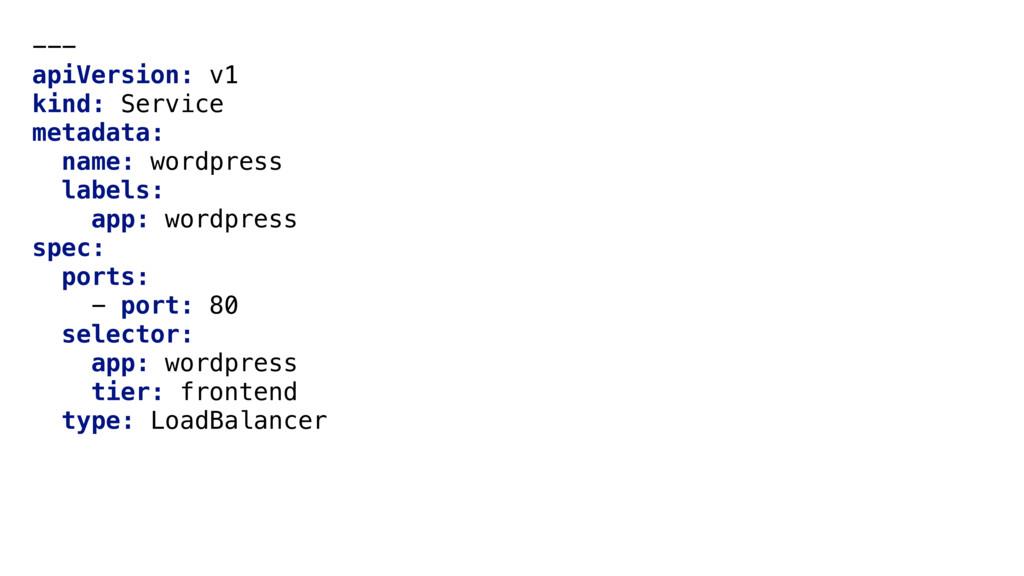 --- apiVersion: v1 kind: Service metadata: name...