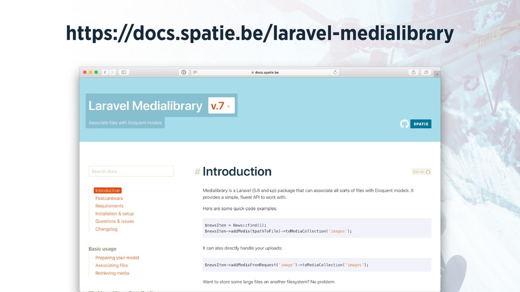 https://docs.spatie.be/laravel-medialibrary
