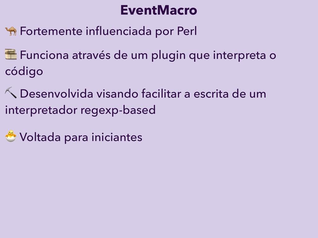 Voltada para iniciantes EventMacro ⛏ Desenvolv...