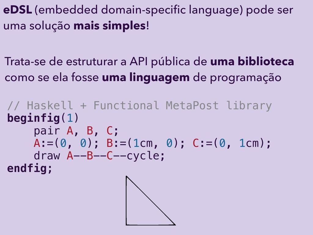 Trata-se de estruturar a API pública de uma bib...