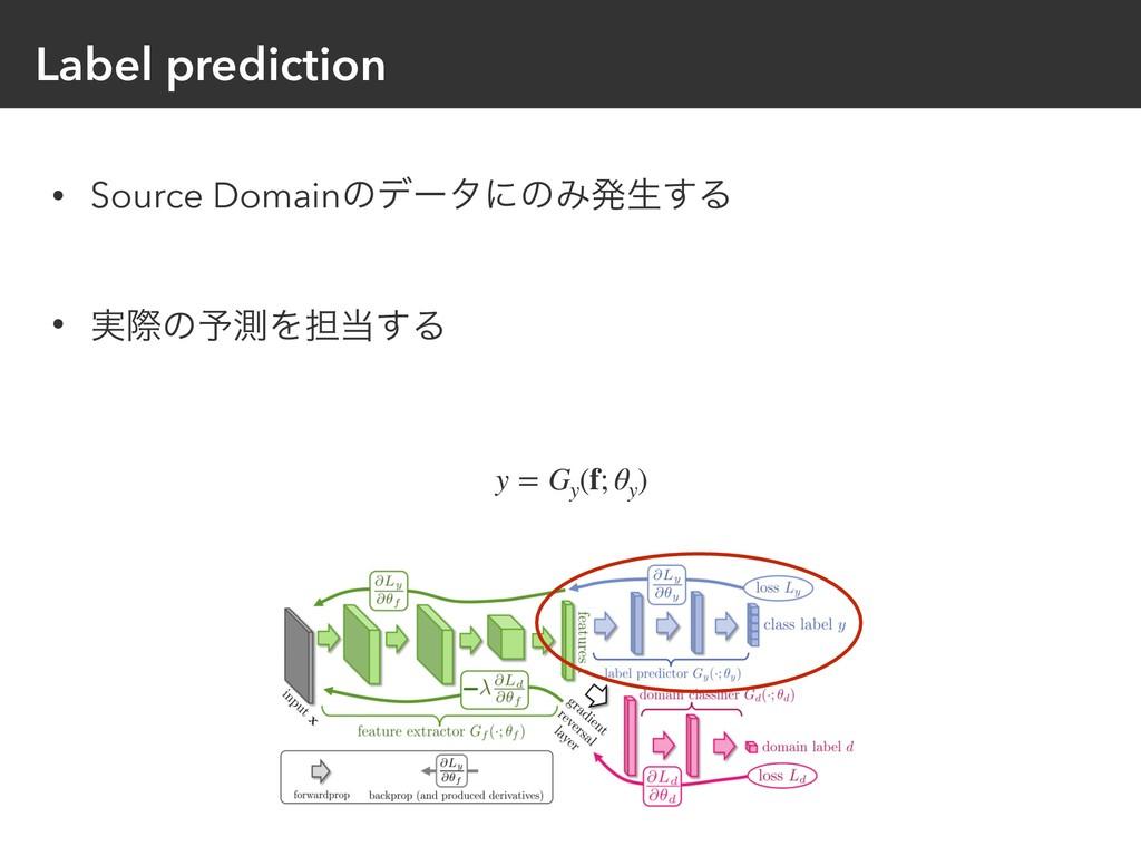 Label prediction • Source DomainͷσʔλʹͷΈൃੜ͢Δ • ࣮...
