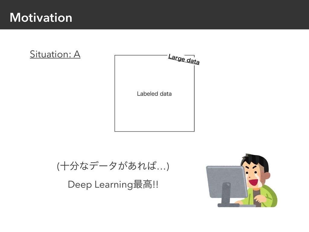 Motivation -BCFMFEEBUB (ेͳσʔλ͕͋Ε…) Deep Lear...