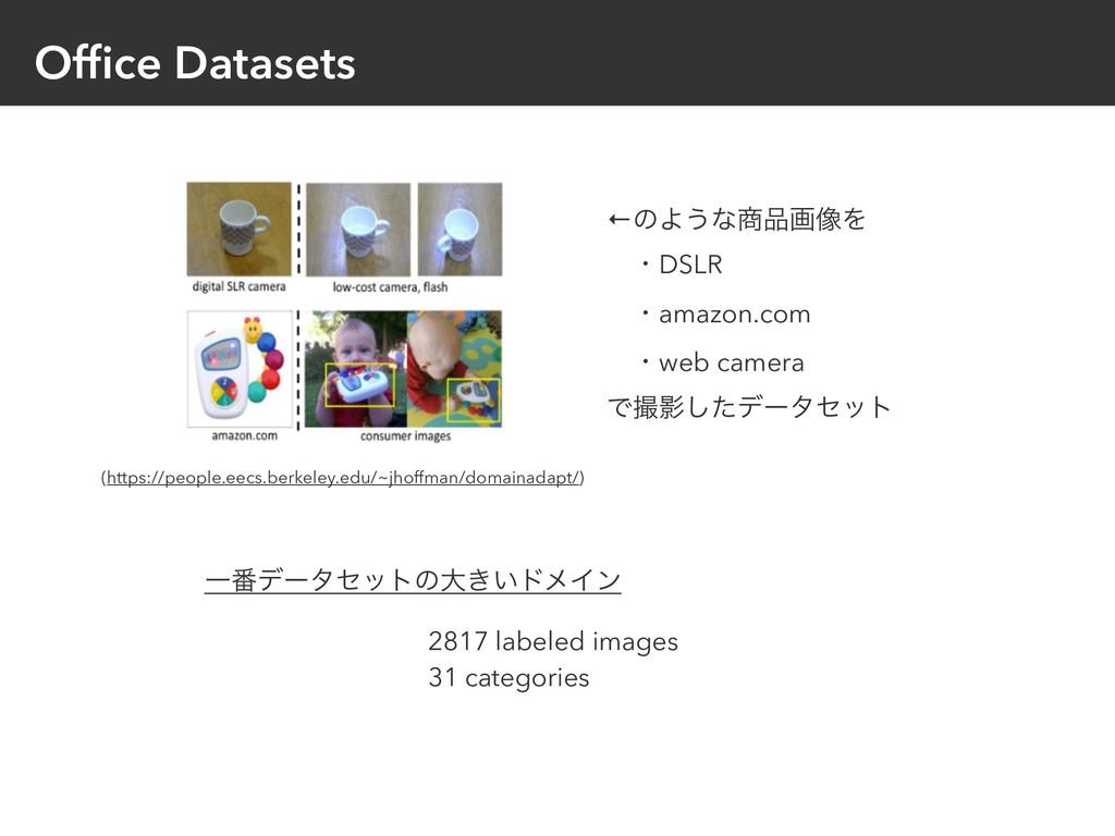 Office Datasets ←ͷΑ͏ͳը૾Λ ɹɾDSLR ɹɾamazon.com ɹ...