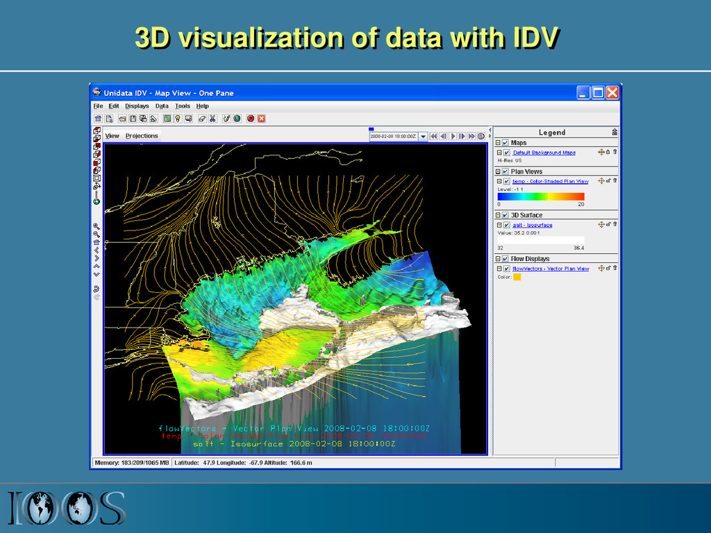 3D visualization of data with IDV