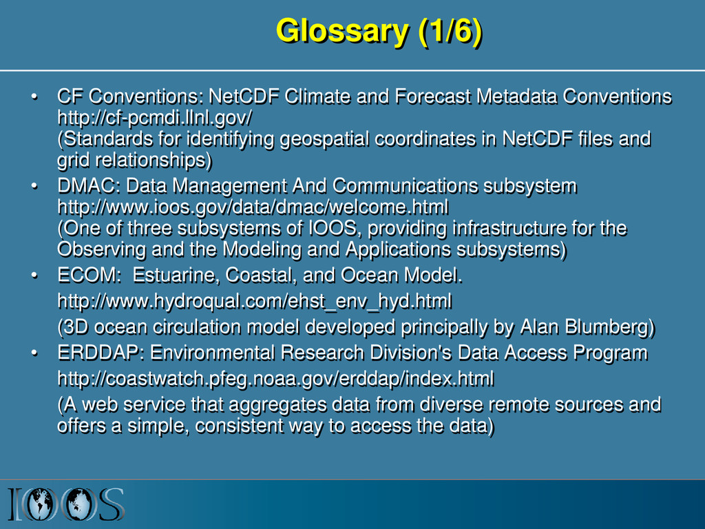 Glossary (1/6) • CF Conventions: NetCDF Climate...
