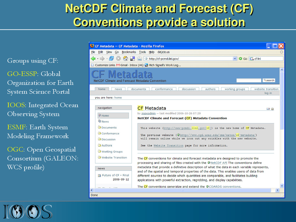 NetCDF Climate and Forecast (CF) Conventions pr...
