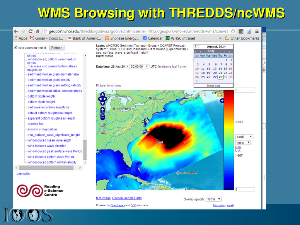WMS Browsing with THREDDS/ncWMS