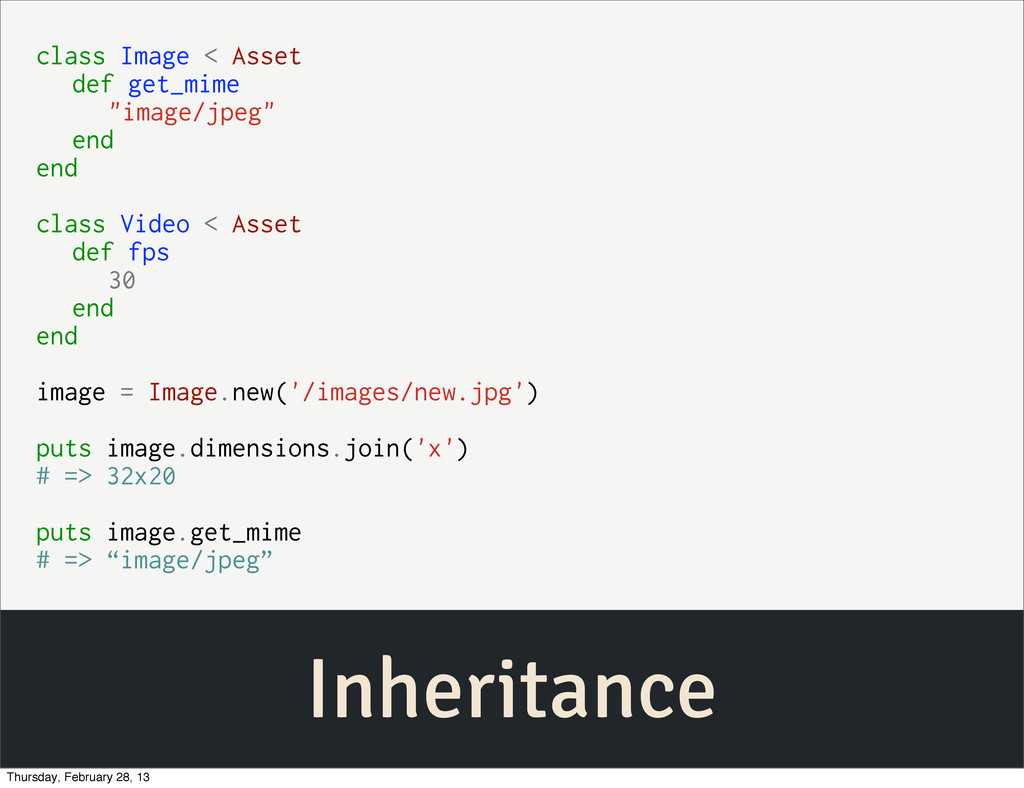 "Inheritance class Image < Asset def get_mime ""i..."