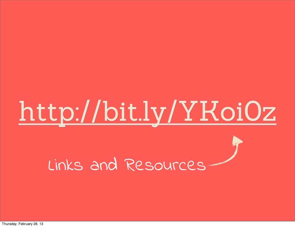 http://bit.ly/YKoi0z Links and Resources Thursd...