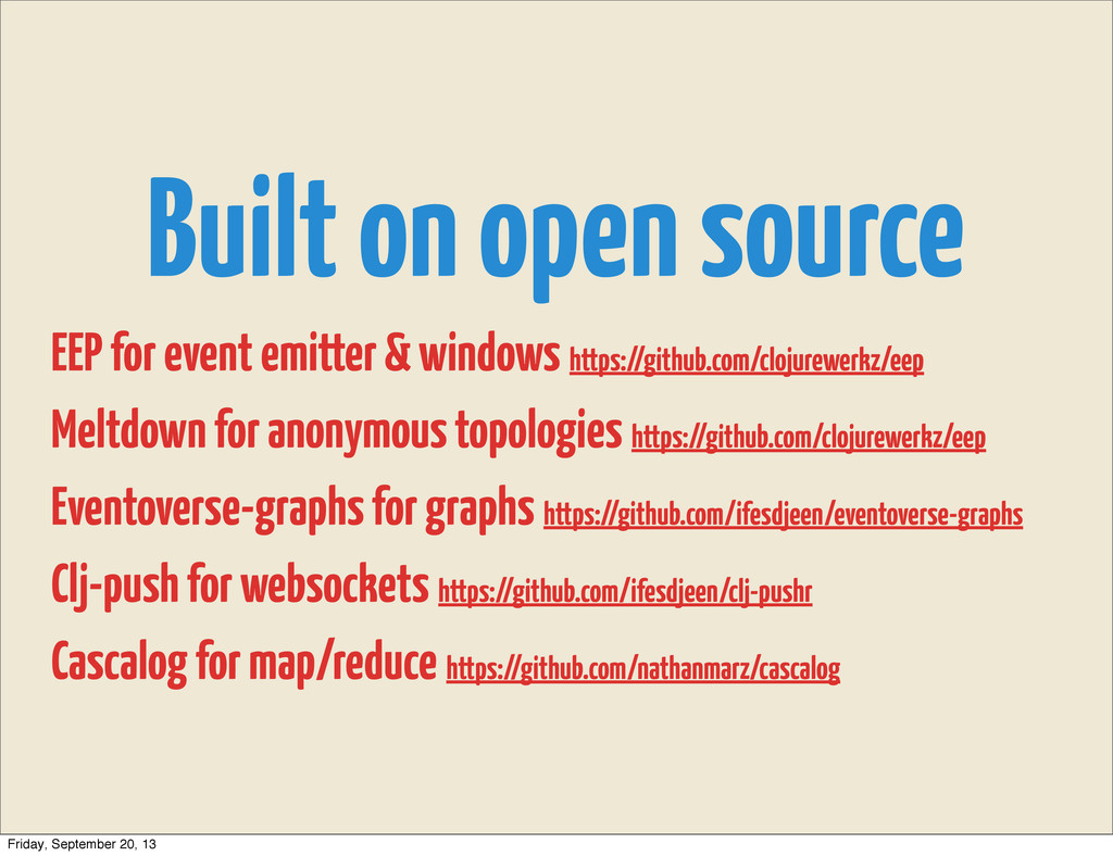 Built on open source EEP for event emitter & wi...