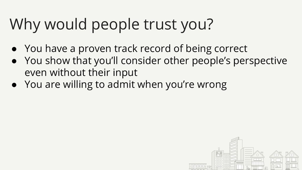 ● You have a proven track record of being corre...