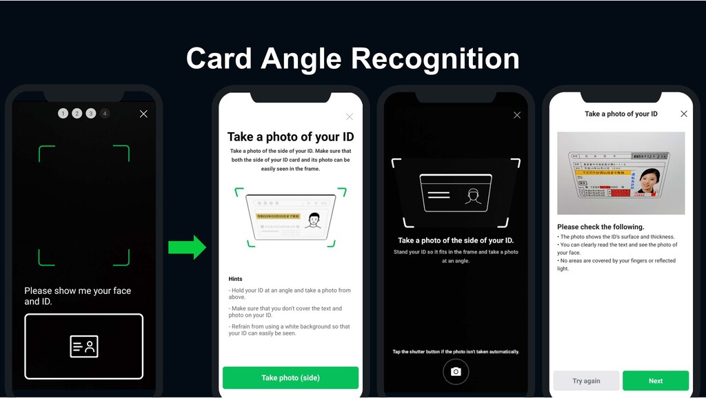 Card Angle Recognition