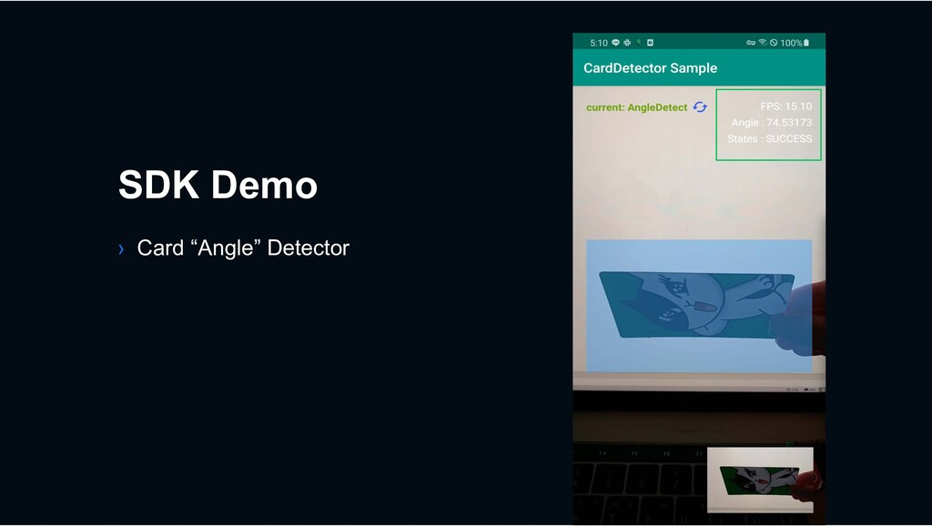 """› Card """"Angle"""" Detector SDK Demo"""