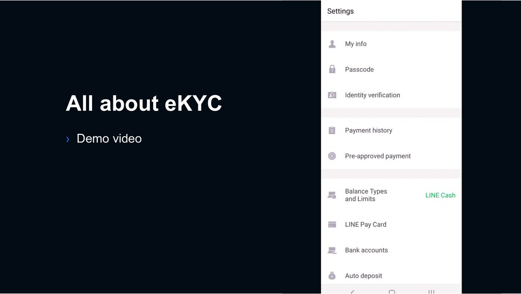 › Demo video All about eKYC
