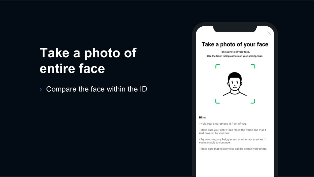 Take a photo of entire face › Compare the face ...
