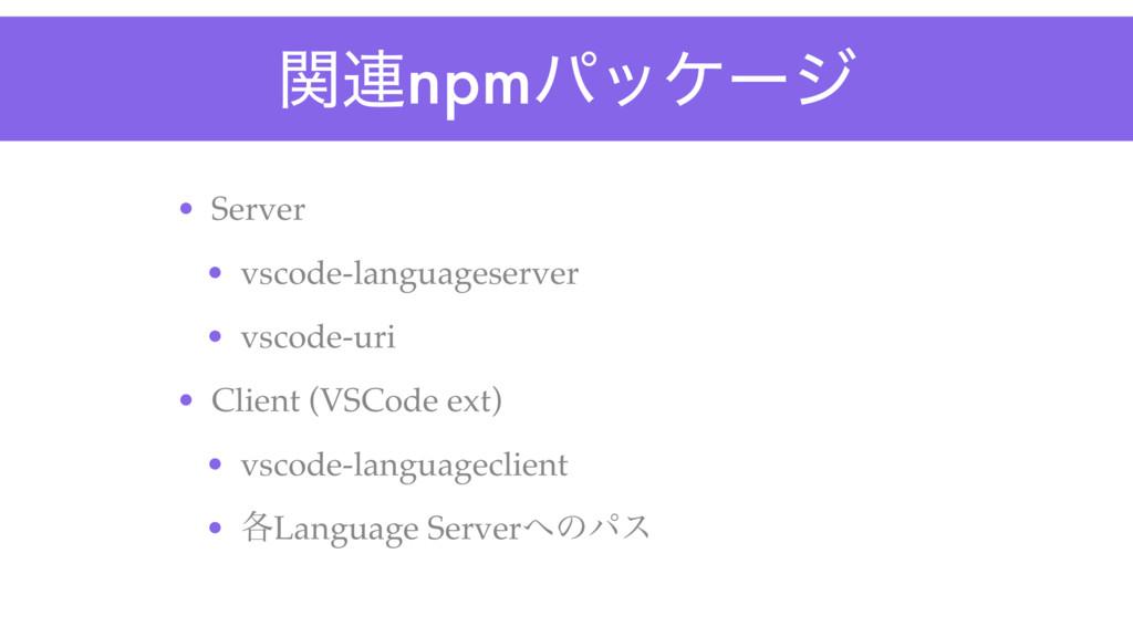 ؔ࿈npmύοέʔδ • Server • vscode-languageserver • v...