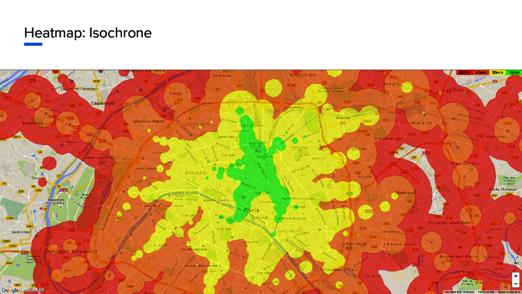 Heatmap: Isochrone