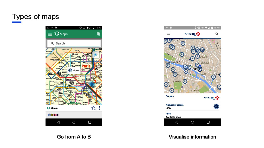 Types of maps Go from A to B Visualise informat...