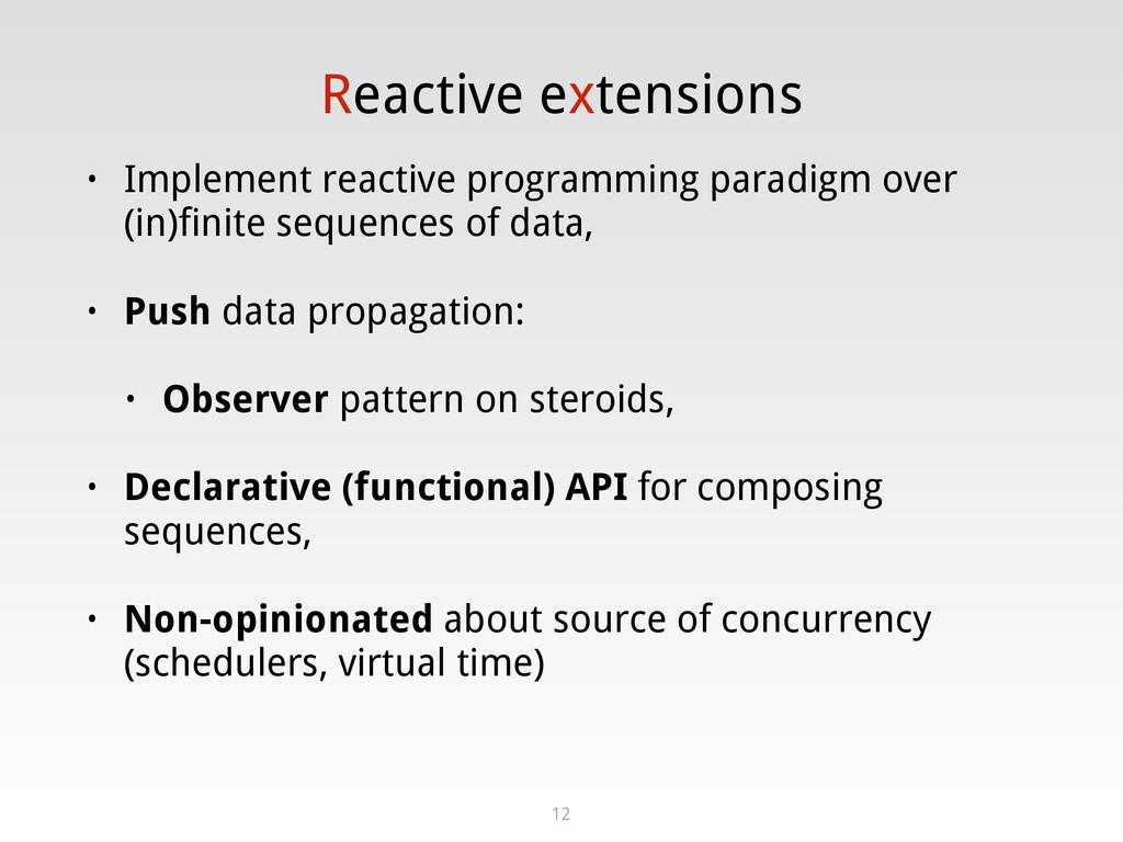 Reactive extensions • Implement reactive progra...