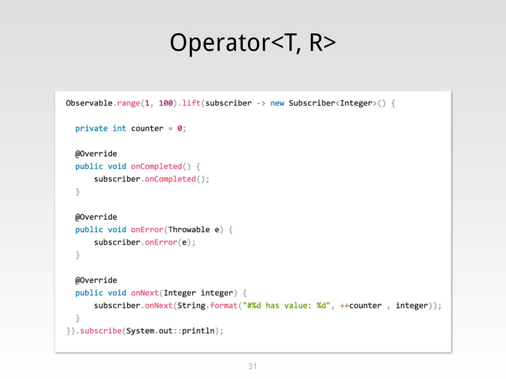 Operator<T, R> 31
