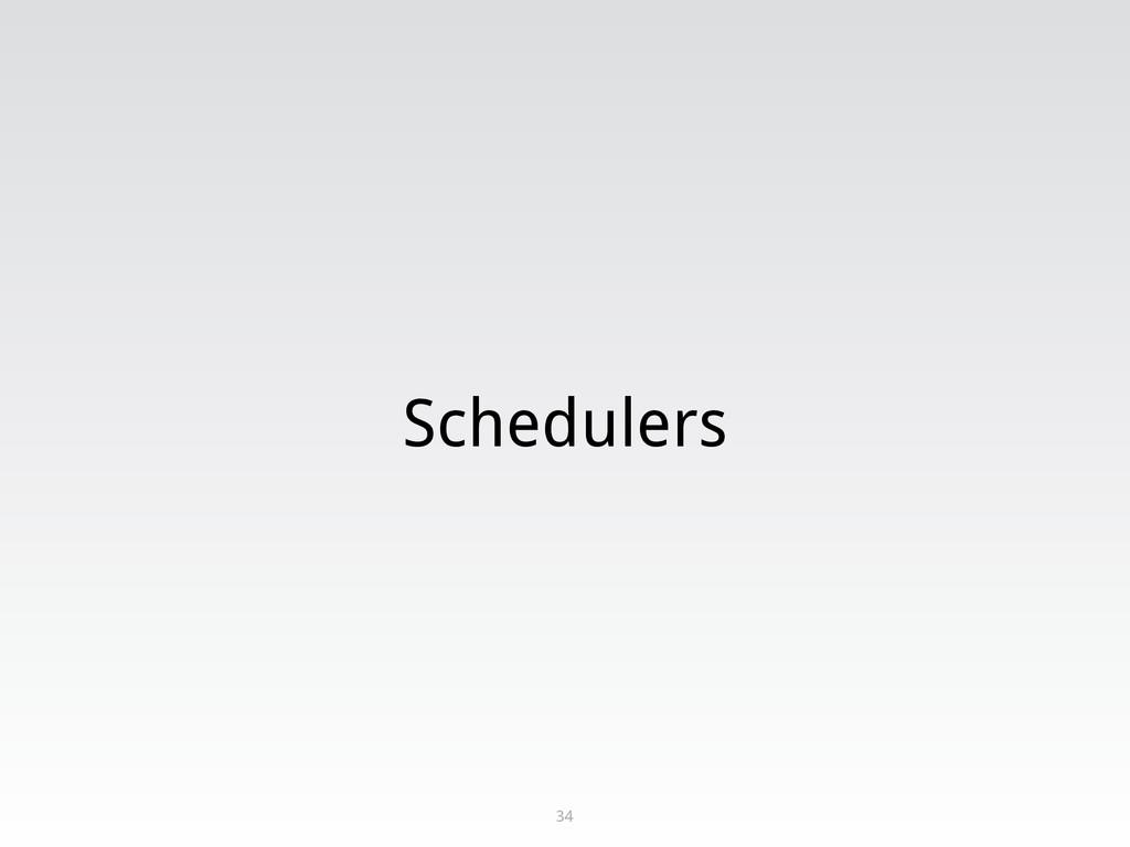 Schedulers 34