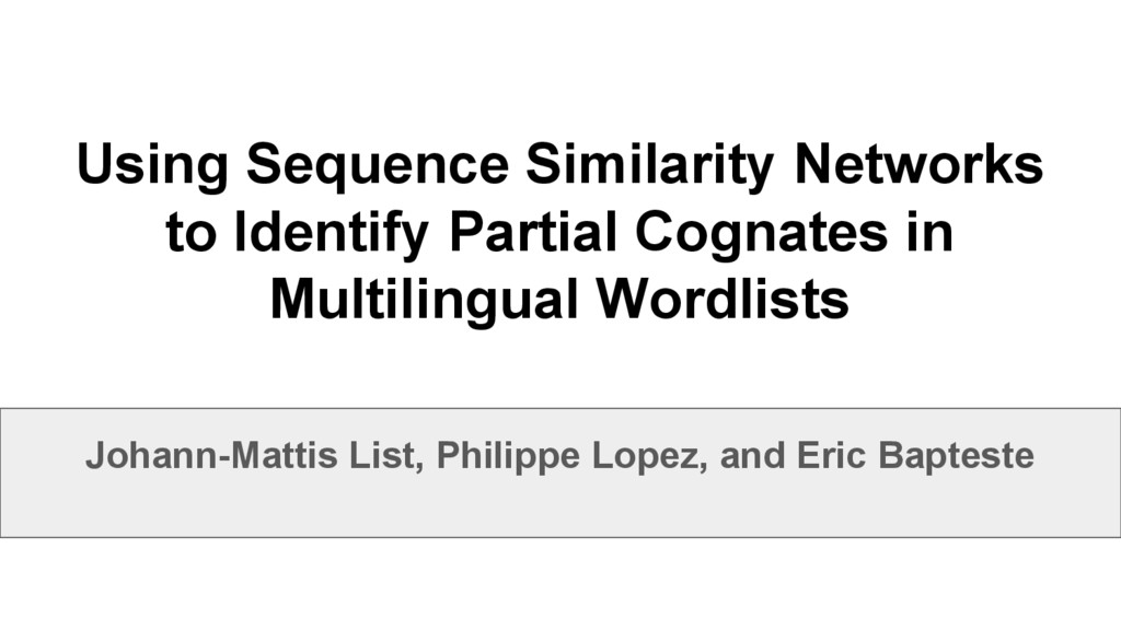 Using Sequence Similarity Networks to Identify ...