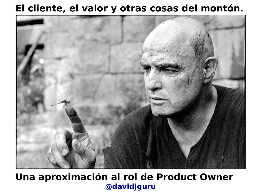 Una aproximación al rol de Product Owner @david...